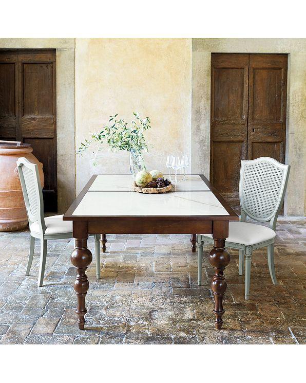 Casa Florentina Renato 63 Dining Table Custom Ballard Designs Side Chairs Top