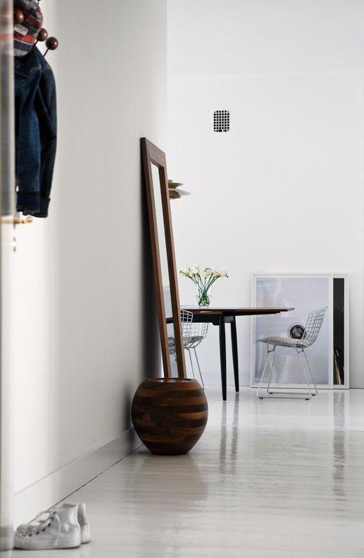 mirror, chair
