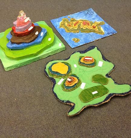 Geography project | making 3d maps | map activities for middle