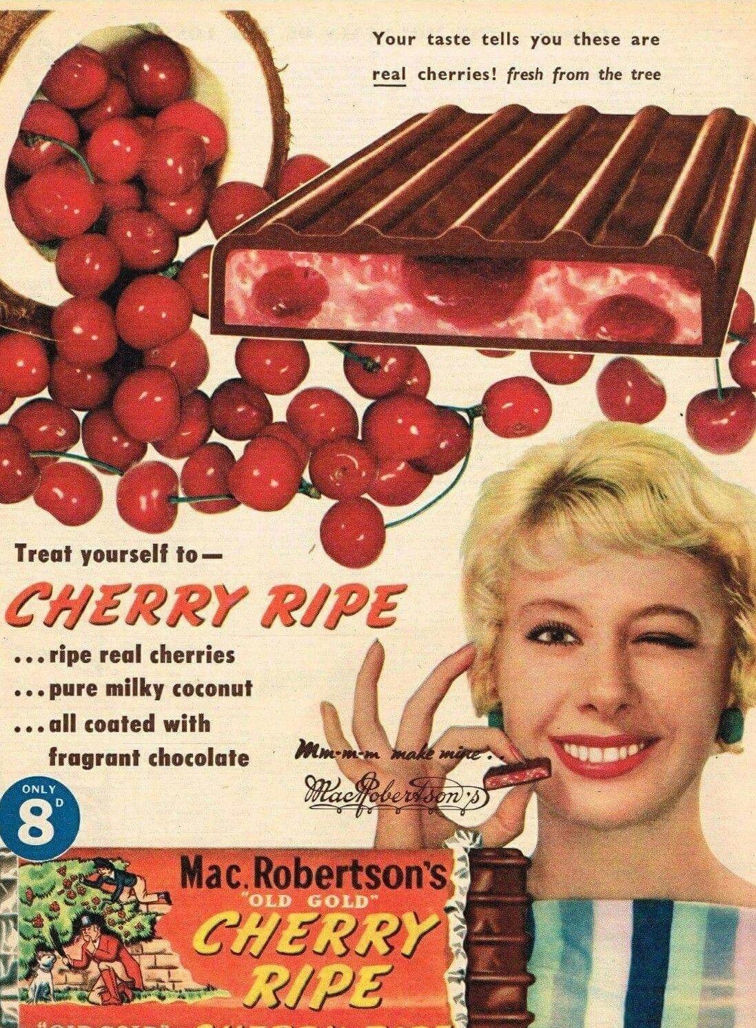 MacRobertson Cherry Ripe ~ Australia 1959. | Vintage ...