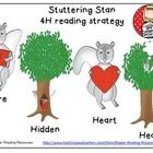 """$2.50 This 4H reading strategy resource supports close reading, using text evidence.  Resource based on """"Stuttering Stan Takes a Stand"""" by Artie Knapp.  Great for addressing bullying and teasing."""