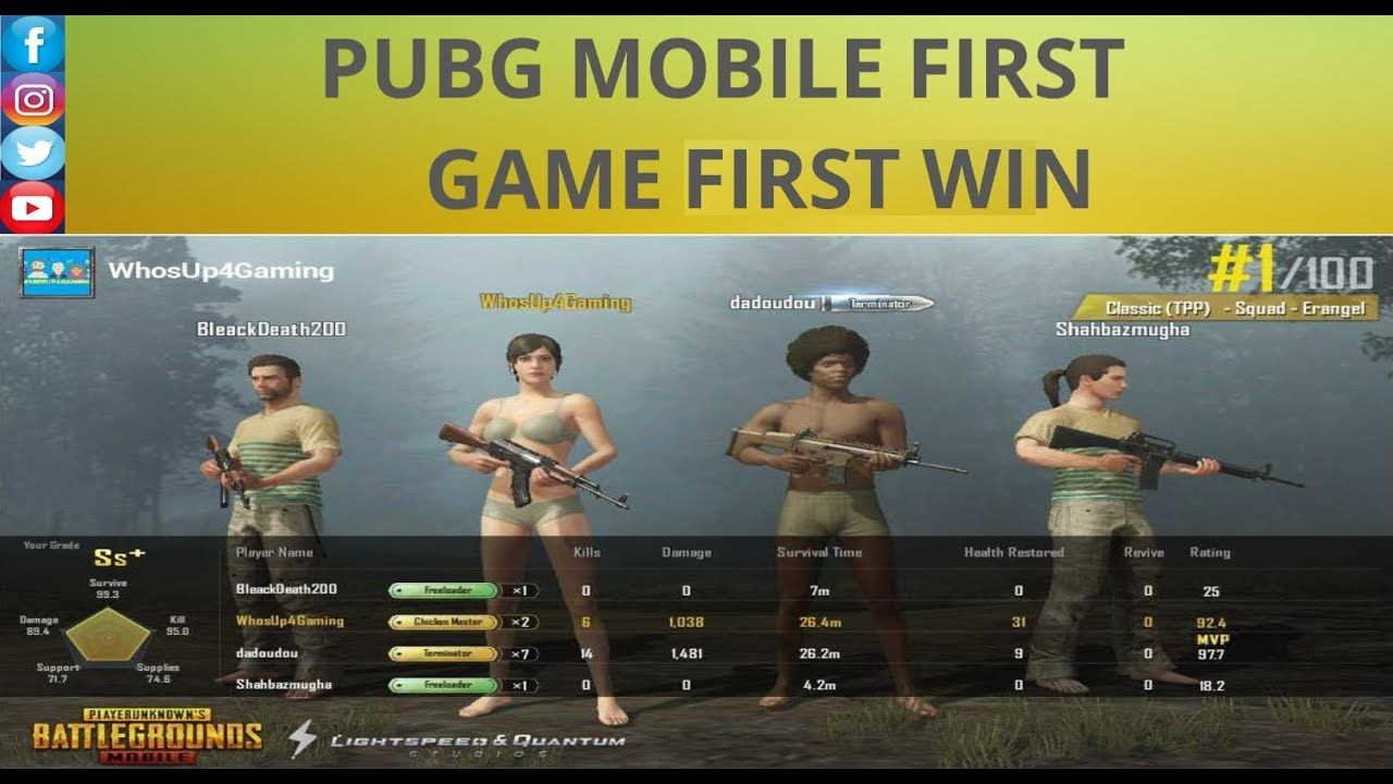 Pubg Mobile 1st Game 1st Win Please Ignore The Over Excited England 19 Typing Games My Dream Came True Games