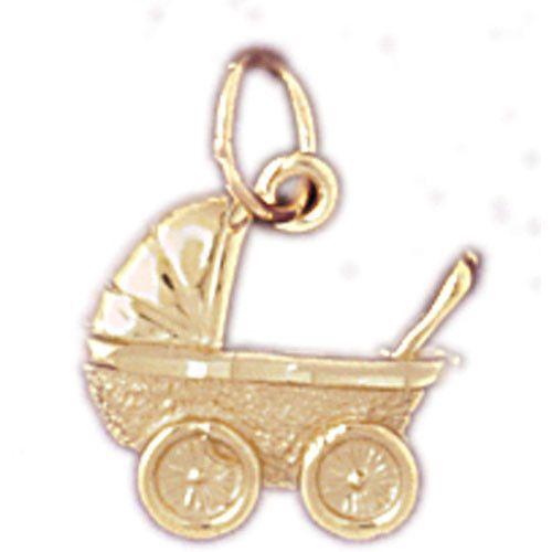 14K GOLD BABY CHARM - PERAMBULATOR #5929