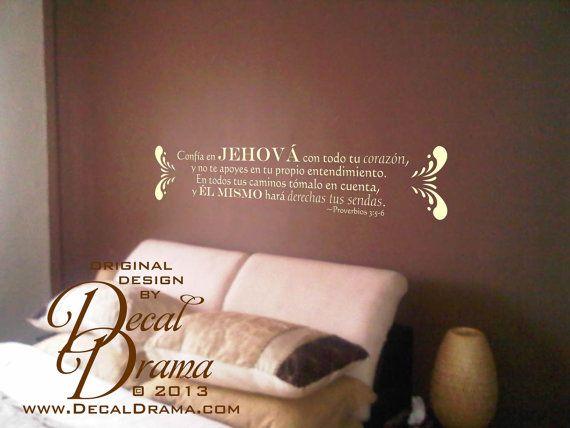 Vinilos Decorativos Conf A En Jehov Con Todo Tu Coraz N
