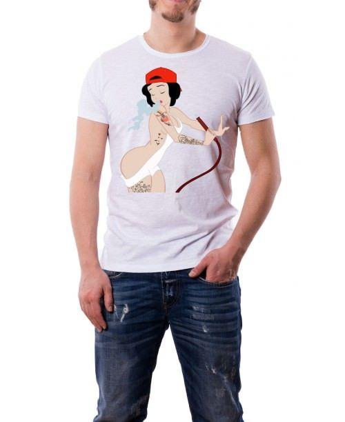 T-Shirt Biancaneve punk