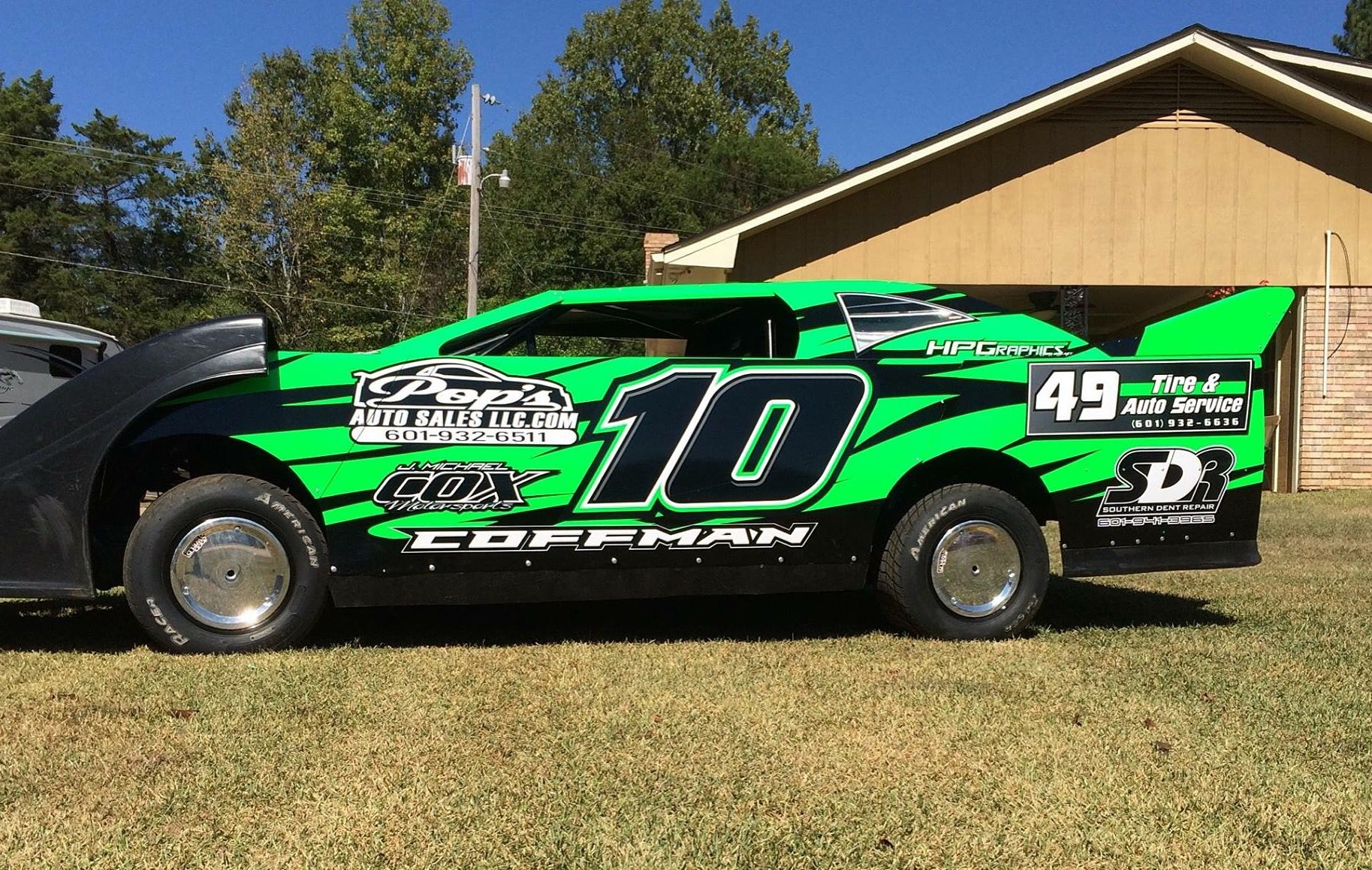Tony Coffman Dirt Mini Stock Race Car By Hpgraphics Net