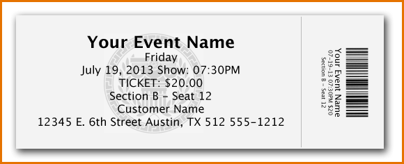 Ticket Template Microsoft Word Free Download Ticket Template Free Microsoft Word Free Ticket Design Template