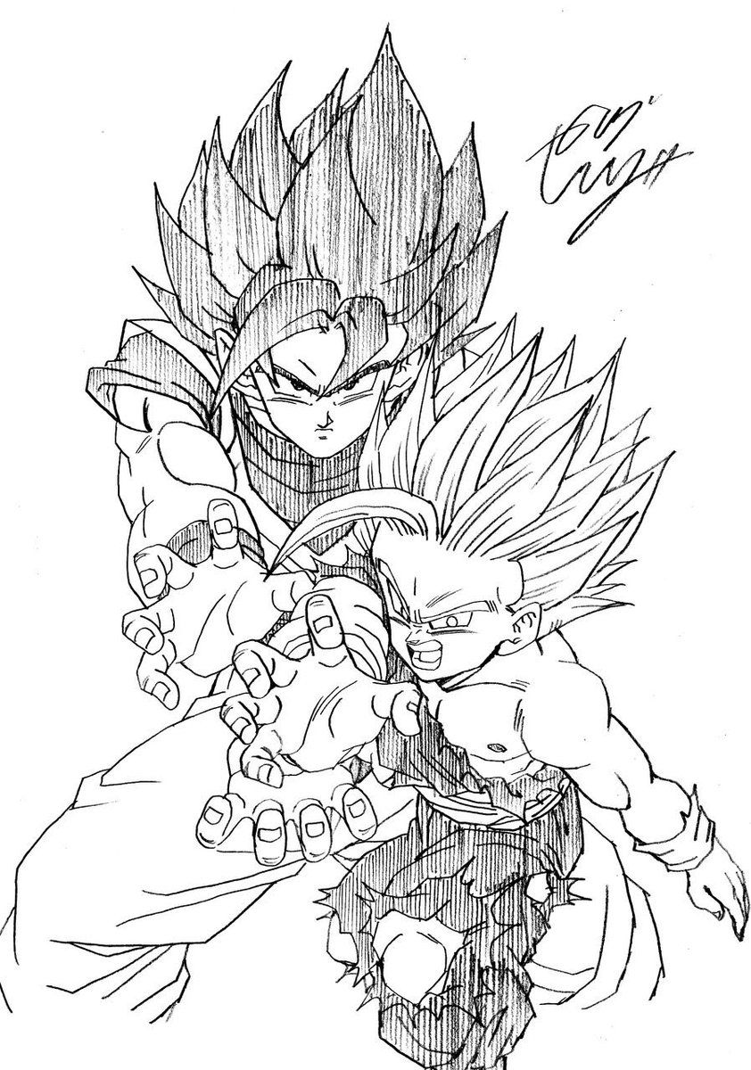 Goku & Gohan | Dragon ball z | Pinterest | Goku, Dragon ball and Dragons