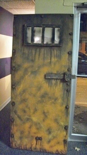another great faux steel door Halloween