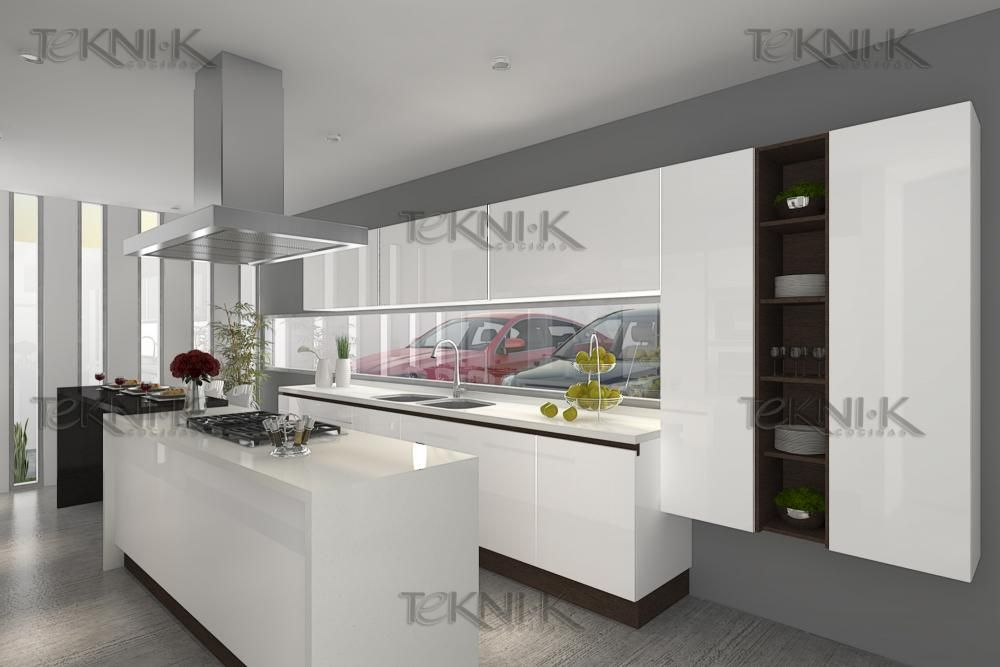 Cocinas Blancas Con Granito. Aravaca Cocina Santos Modelo Plano ...