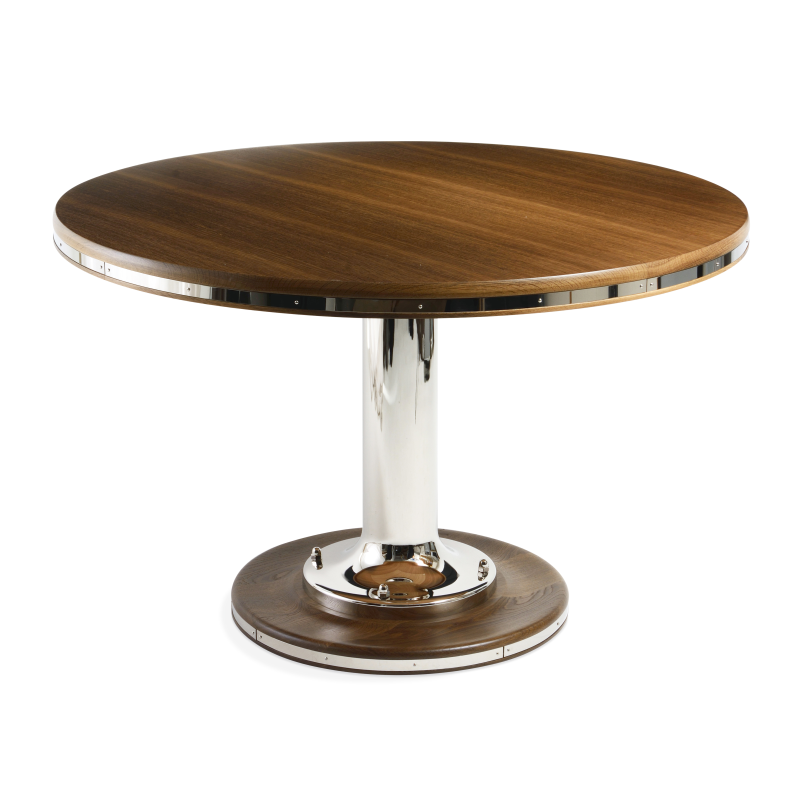 At The Table Or On The Table The Circular Yacht Table Dining Table Table Circular Table
