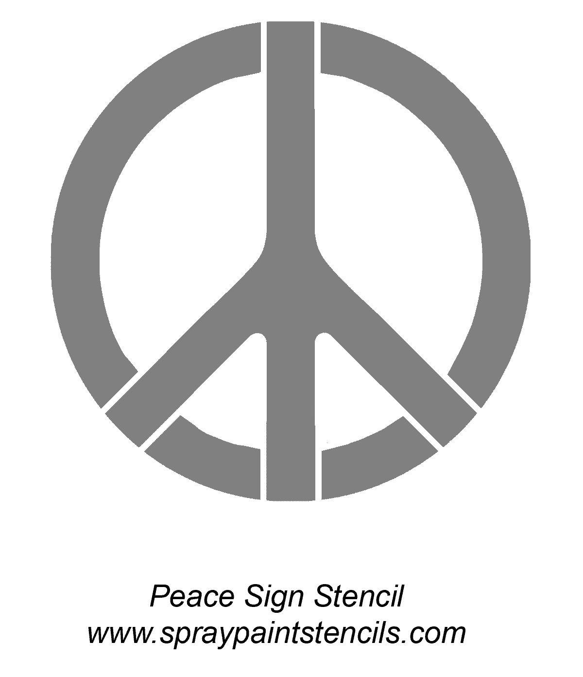 Peace Stencil | Tattoo | Pinterest | Stenciling