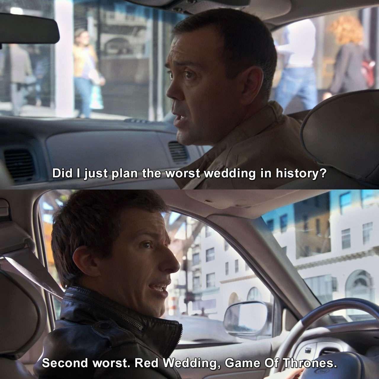 Did I Just Plan The Worst Wedding In History Charlesboyle Jakeperalta Brooklynninenine Fanc Brooklyn Nine Nine Brooklyn Nine Nine Funny Brooklyn 99 Actors