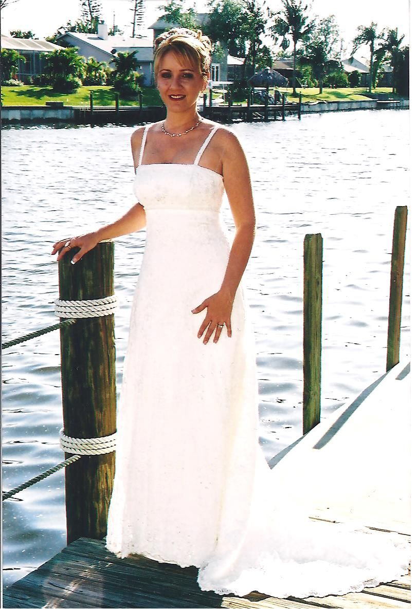 Bridal gowns for beach weddings  Custom gown beach wedding Ft Myers FL by Linda Proulx  Real