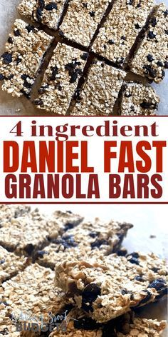 Hungry while on the Daniel Fast? Youll love this easy Daniel Fast granola bar re…