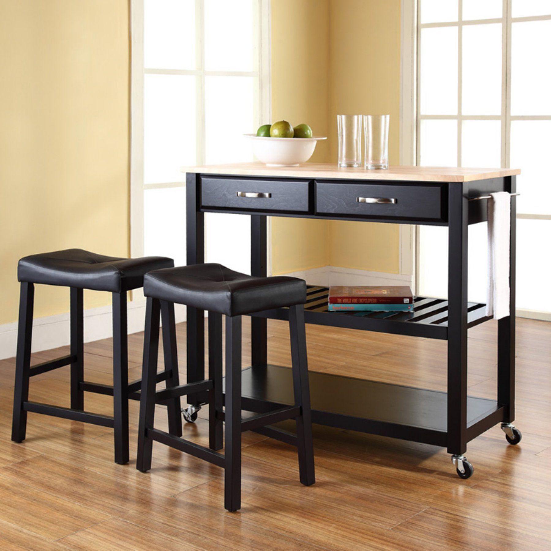 Crosley Kitchen Cart With Stools Kitchen Tops Granite Black Kitchens Kitchen Island Cart Kitchen island carts with stools
