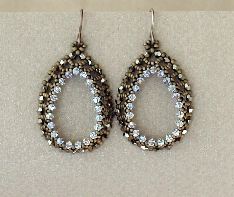 Open Teardrops Earrings Beading Tutorial Craftsy Beautiful