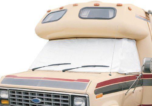 Amazon Com Classic Accessories 78684 Overdrive Rv Windshield Cover White For Ford 92 03 Classic Accesso Windshield Cover Classic Accessories Windshield