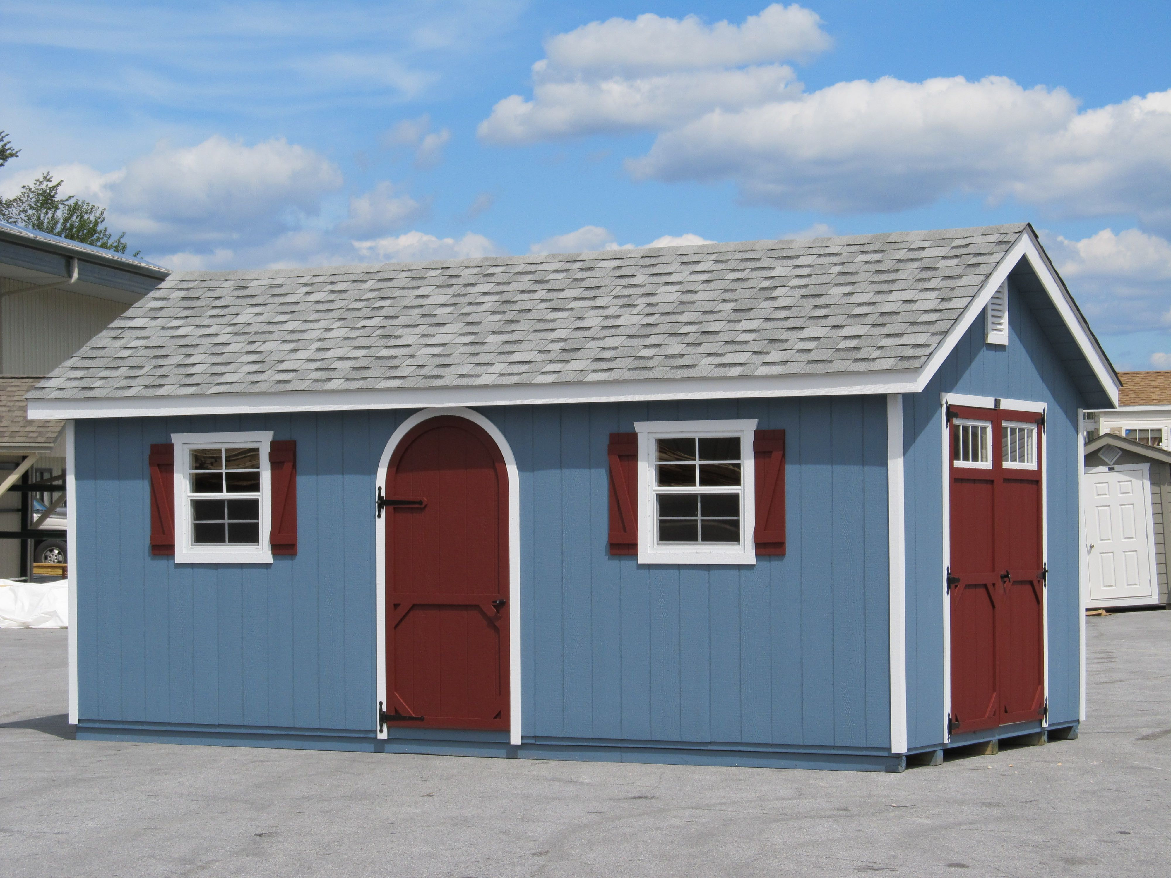the arch door adds character to any structure garden sheds