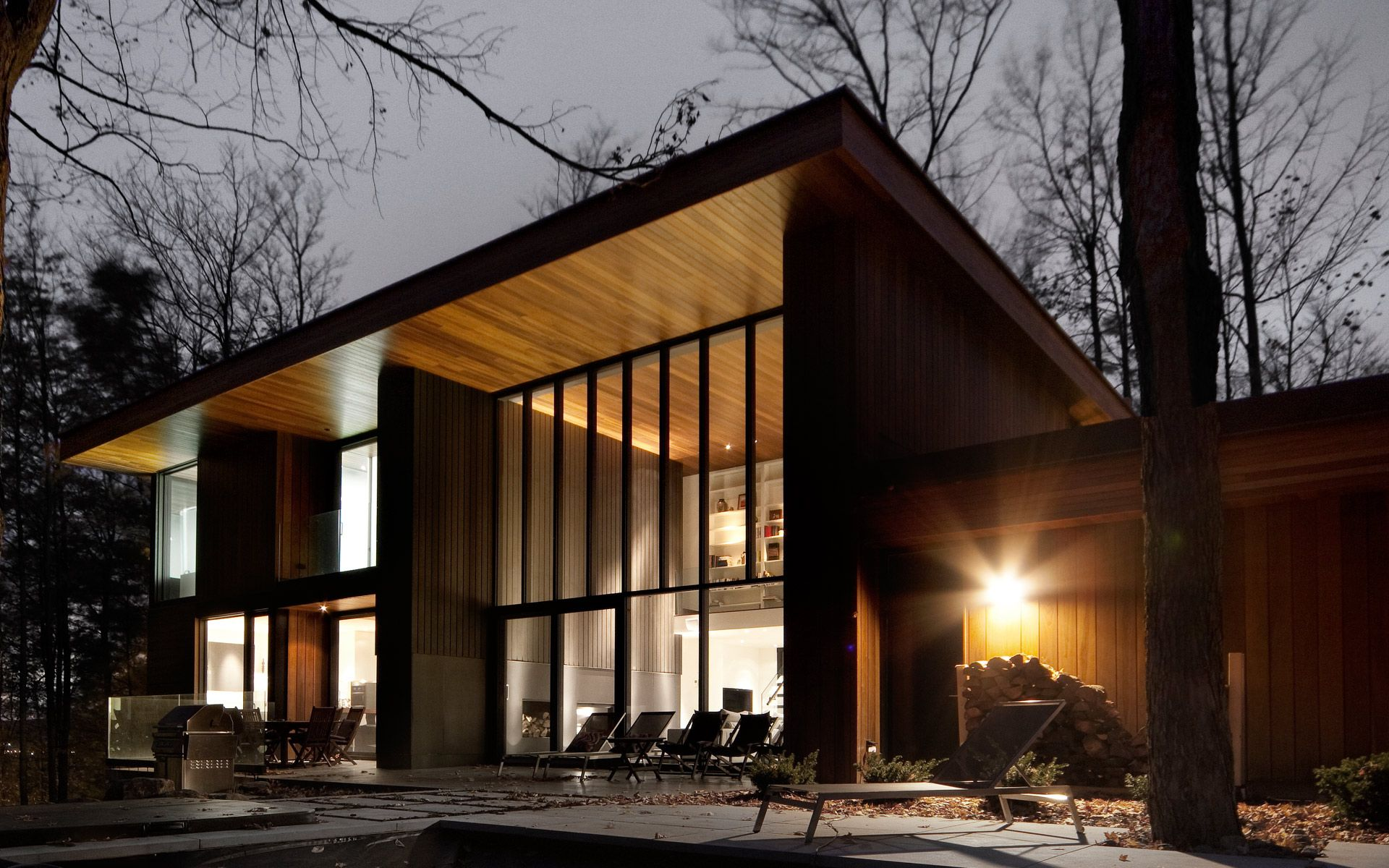 V2com Newswire | Residential Architecture | Bromont House   Paul Bernier  Architecte @James Brittain | Maison Extérieur | Pinterest | House