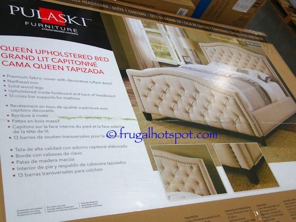 Costco Pulaski Furniture Queen Upholstered Bed 499 99