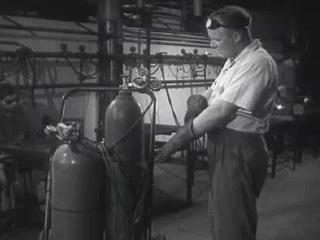 This Is A Still From The Movie The Welding Operator This Welder Is Checking His Tanks Movies Welding Welders