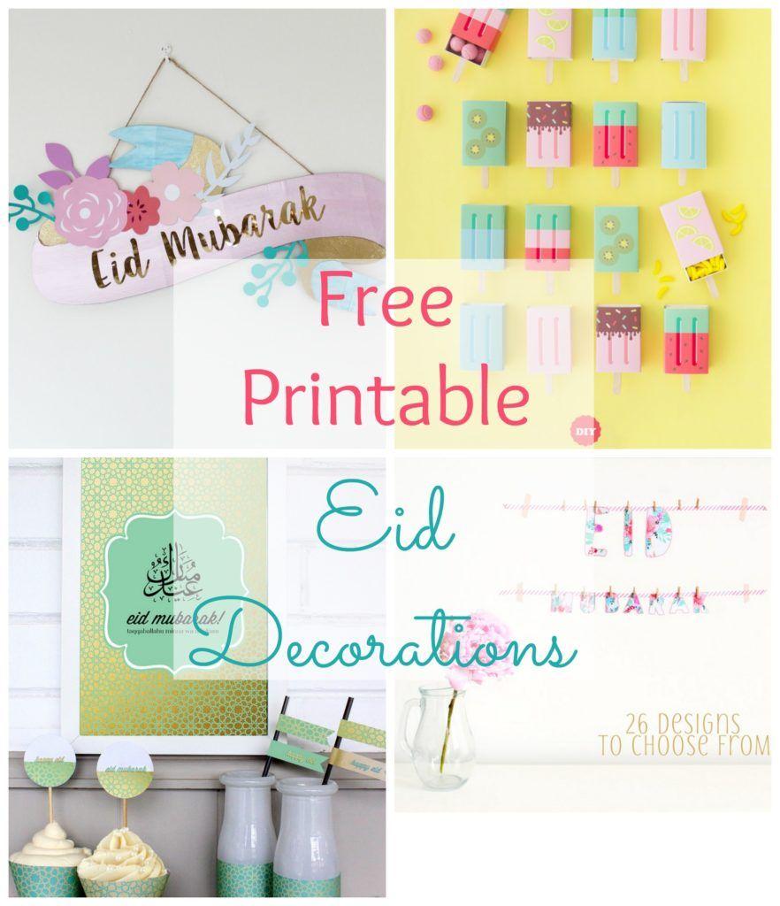 Free Printable Eid Decorations The Muslimah Guide Eid Decoration Diy Eid Decorations Ramadan Decorations