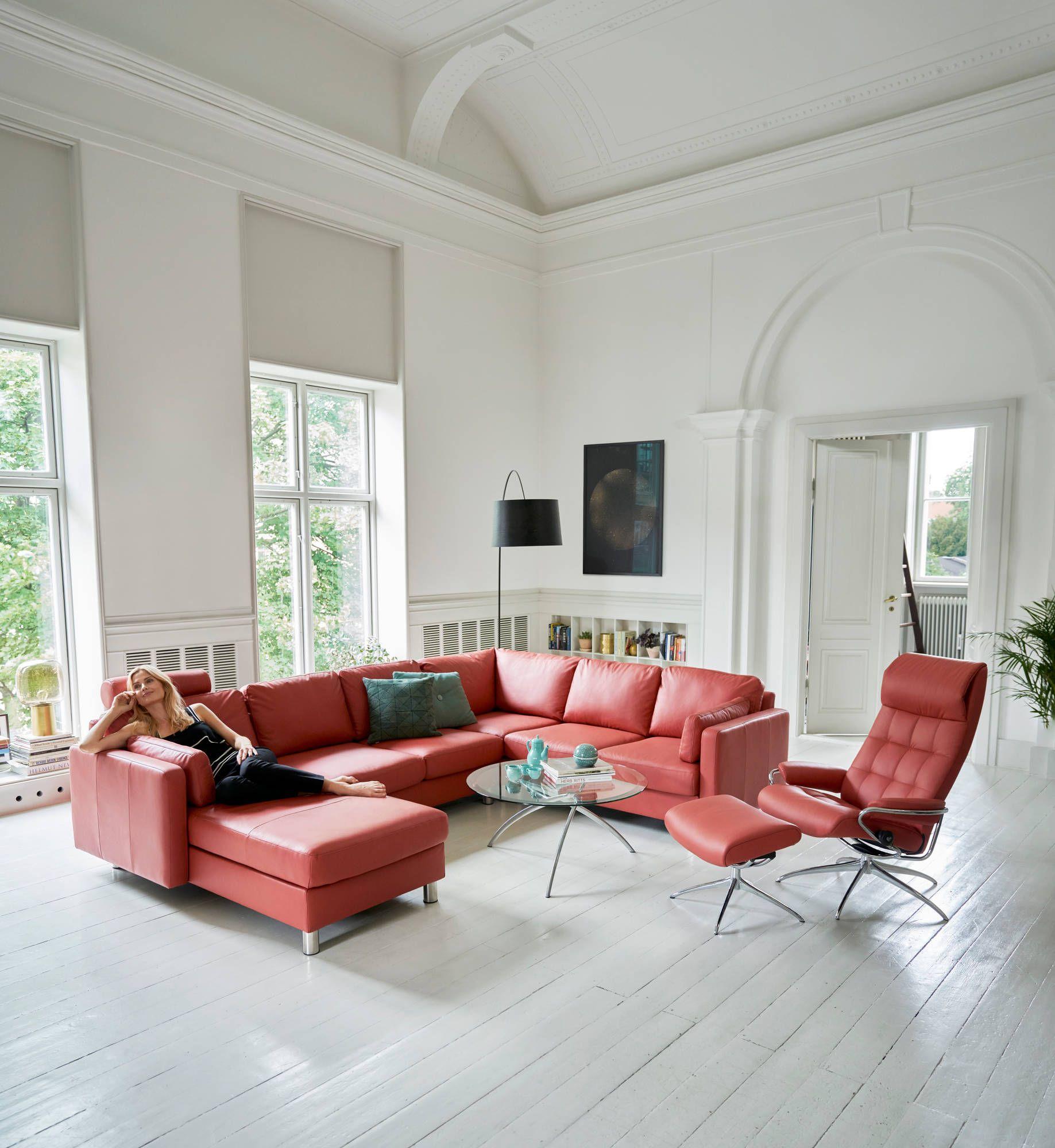 stressless sofa e600 als longseat 2er ecke 2er mit stressless sessel