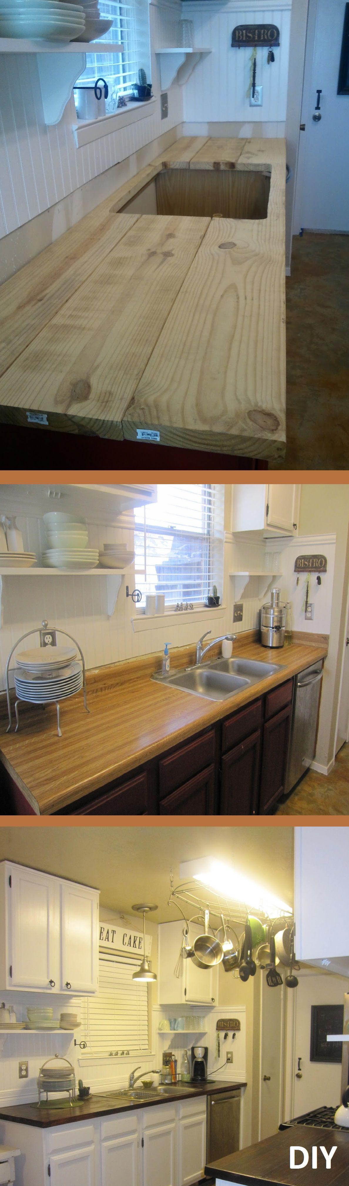 Home Wooden DIY Projects 11 | Küchen-Arbeitsplatten, Küche und ...