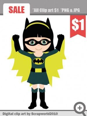 batgirl_superhero_clipart   Super heroes   Superhero ...