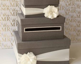 Custom Wedding Card Boxes Guestbook and by jamiekimdesigns on Etsy