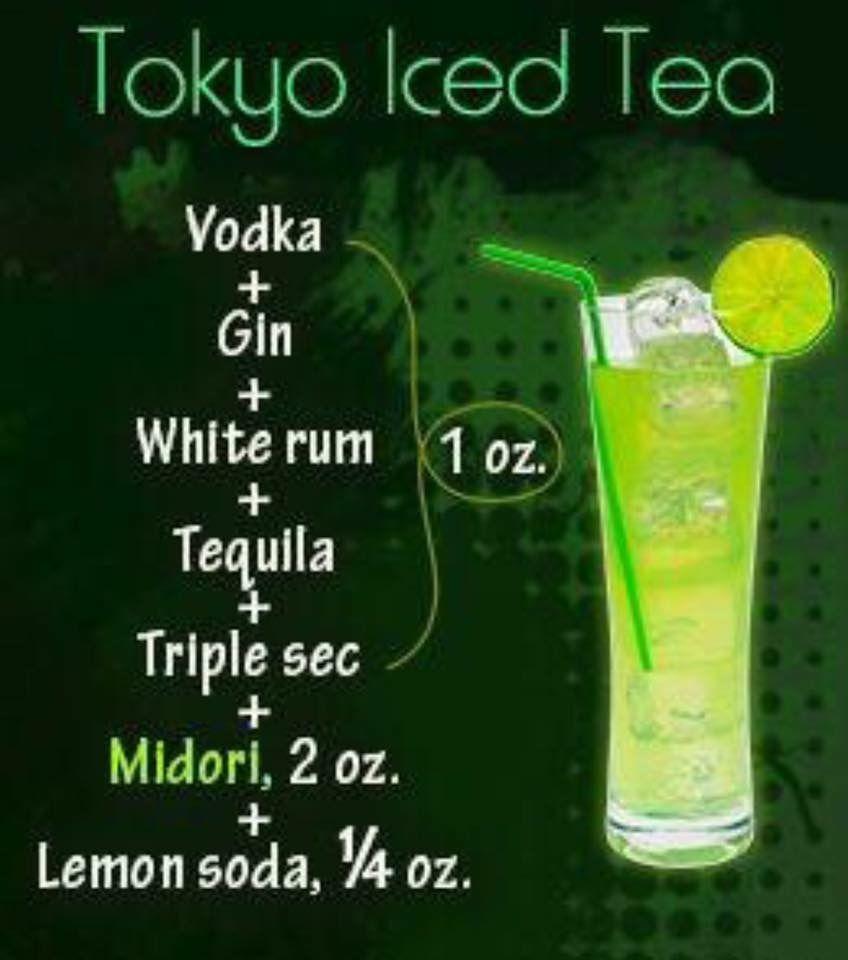 Tokyo Iced Tea Liquor Drinks Alcohol Drink Recipes Drinks Alcohol Recipes