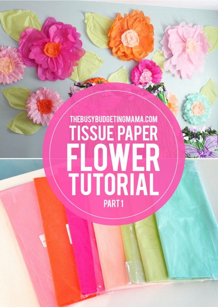 Giant tissue paper flower video tutorial at home with natalie giant tissue paper flower video tutorial at home with natalie pinterest tissue paper tutorials and flower mightylinksfo