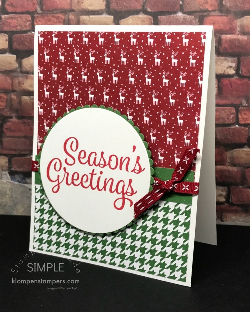 Quick easy christmas cards using be merry dsp and snowflake quick easy christmas cards using be merry dsp and snowflake sentiments from stampin up kristyandbryce Choice Image