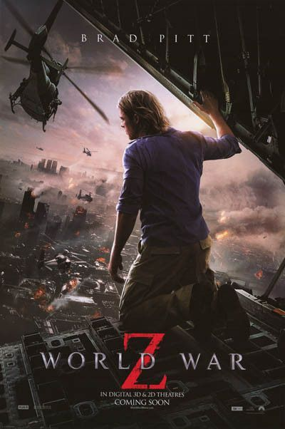 A Great Poster Of Brad Pitt From The 2013 Zombie Horror Film World War Z Let S Hope That Scenes Like This Stay On T Brad Pitt Movies Zombie Movies Good Movies