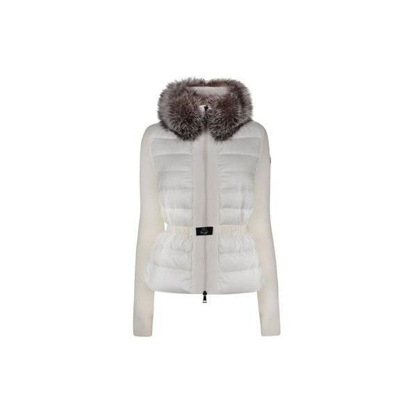 MONCLER Knitted Sleeve Jacket (£780) ❤ liked on Polyvore featuring outerwear, jackets, moncler, moncler jackets and sleeve jacket
