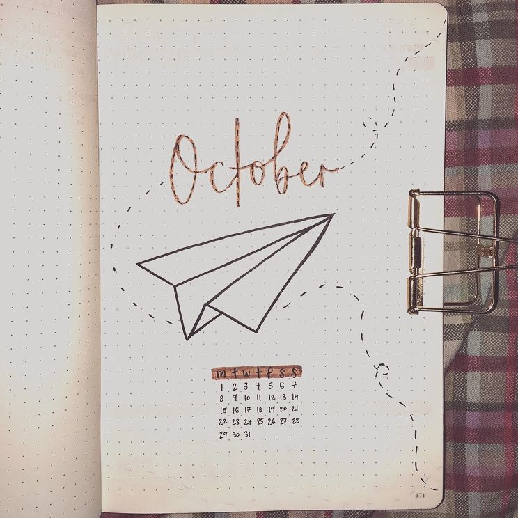 october cover page, bullet journal 2018 #septemberbulletjournalcover