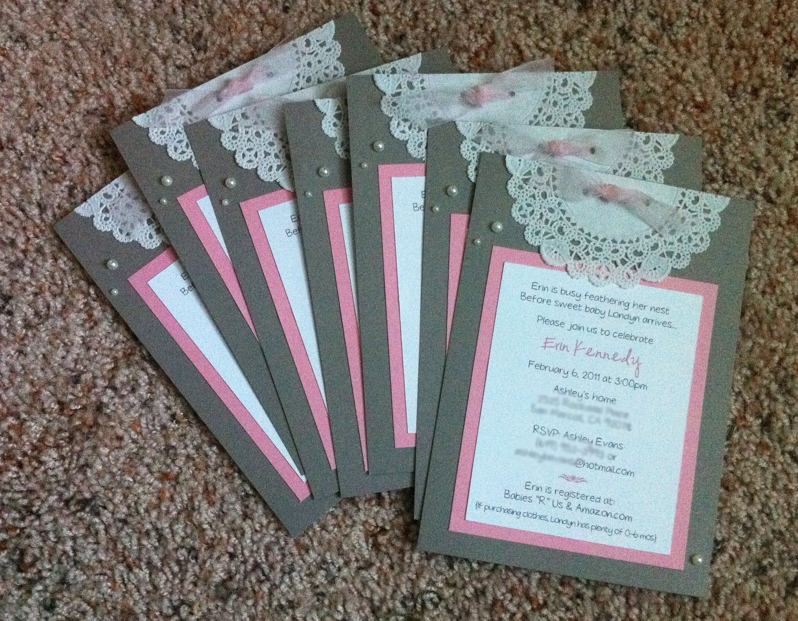 Lace Wedding Scrapbook Ideas Pearls Lace Baby Shower Invitations