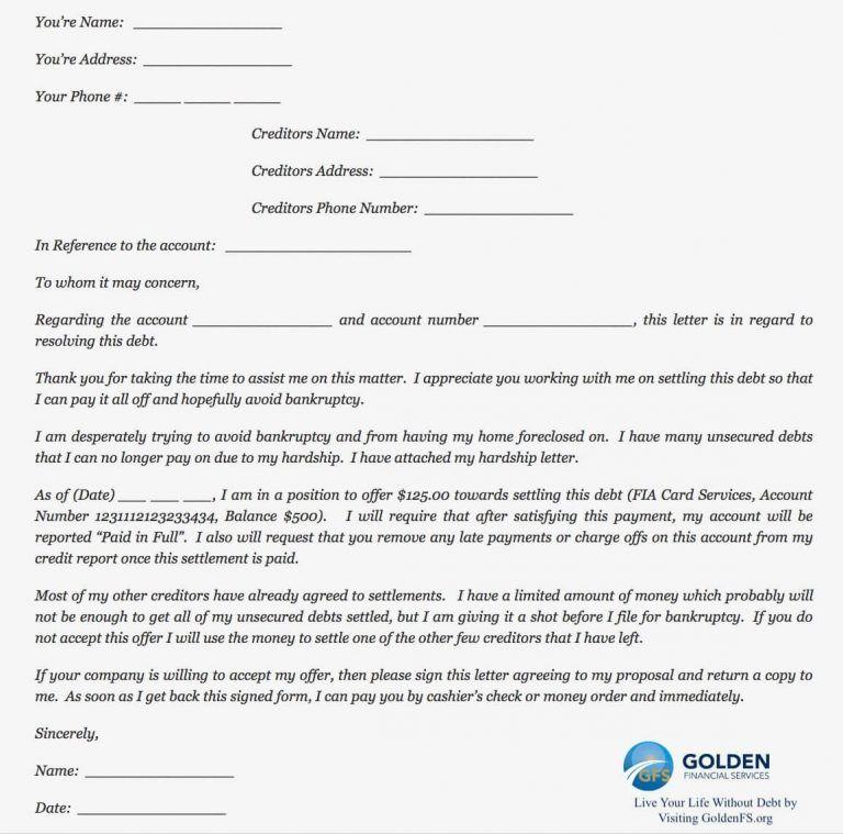 Do It Yourself Debt Settlement Easy Steps Regarding Debt Negotiation Letter Template Debt Settlement Letter Templates Lettering