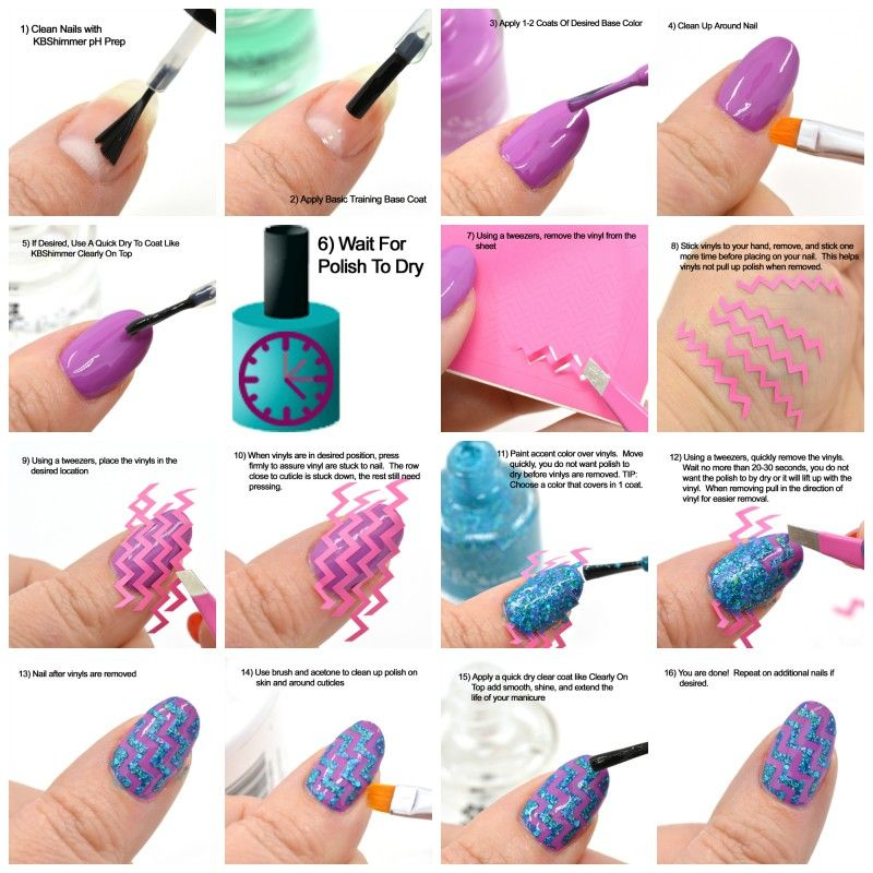 How To Use KBShimmer Nail Vinyl Decals | Easy nail art, Gel nail art ...
