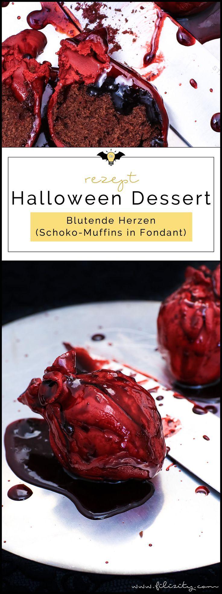 Halloween Nachtisch: Blutende Herzen | Filizity.com | Food-Blog aus dem Rheinland #halloweendesserts