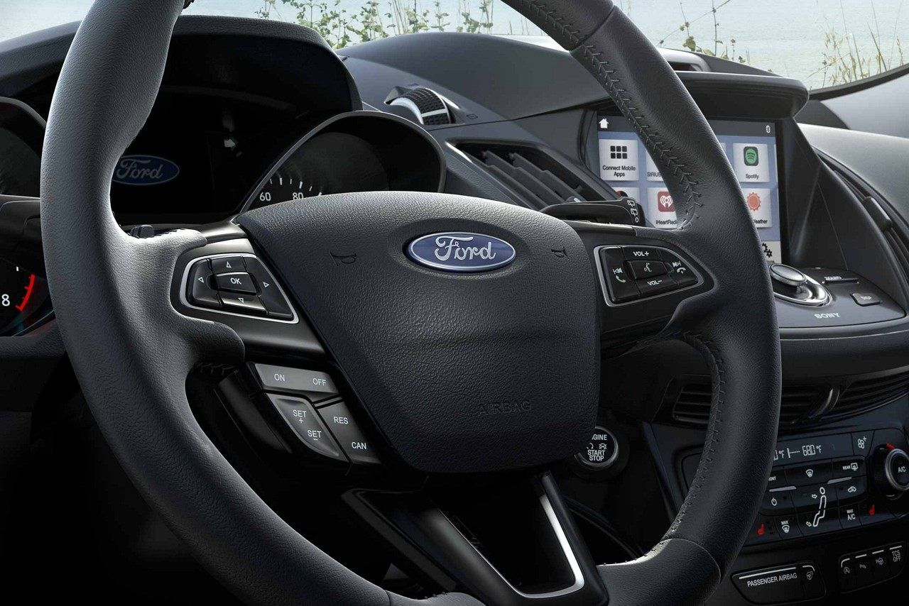 2018 Ford Escape Titanium Leather Wrapped Steering Wheel In Charcoal Black Ford Escape Ford Kuga Ford