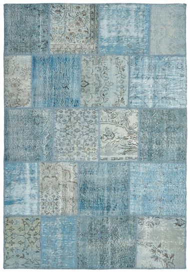 Vintage Patchwork Wool Luna Blue Available In 3 Sizes Discount Area Rugs Rugs Nautical Rugs