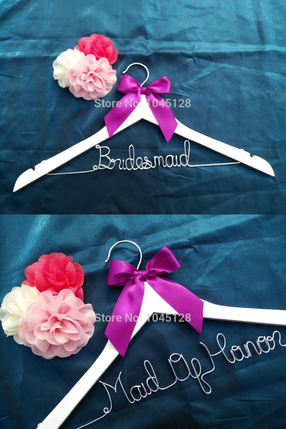 Free shipping Personalized Wedding Hanger, bridesmaid gifts, name ...