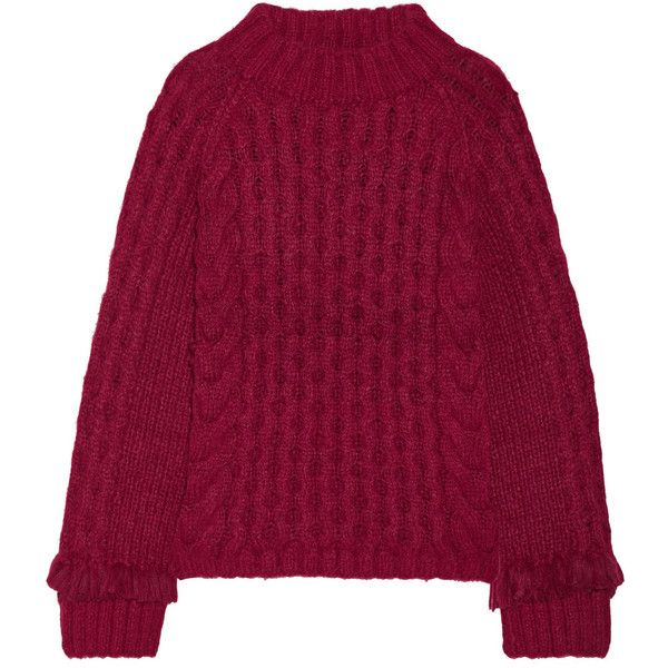 7f237d3c091e ELEVEN SIX Lorena fringed cable-knit alpaca-blend sweater (€705 ...