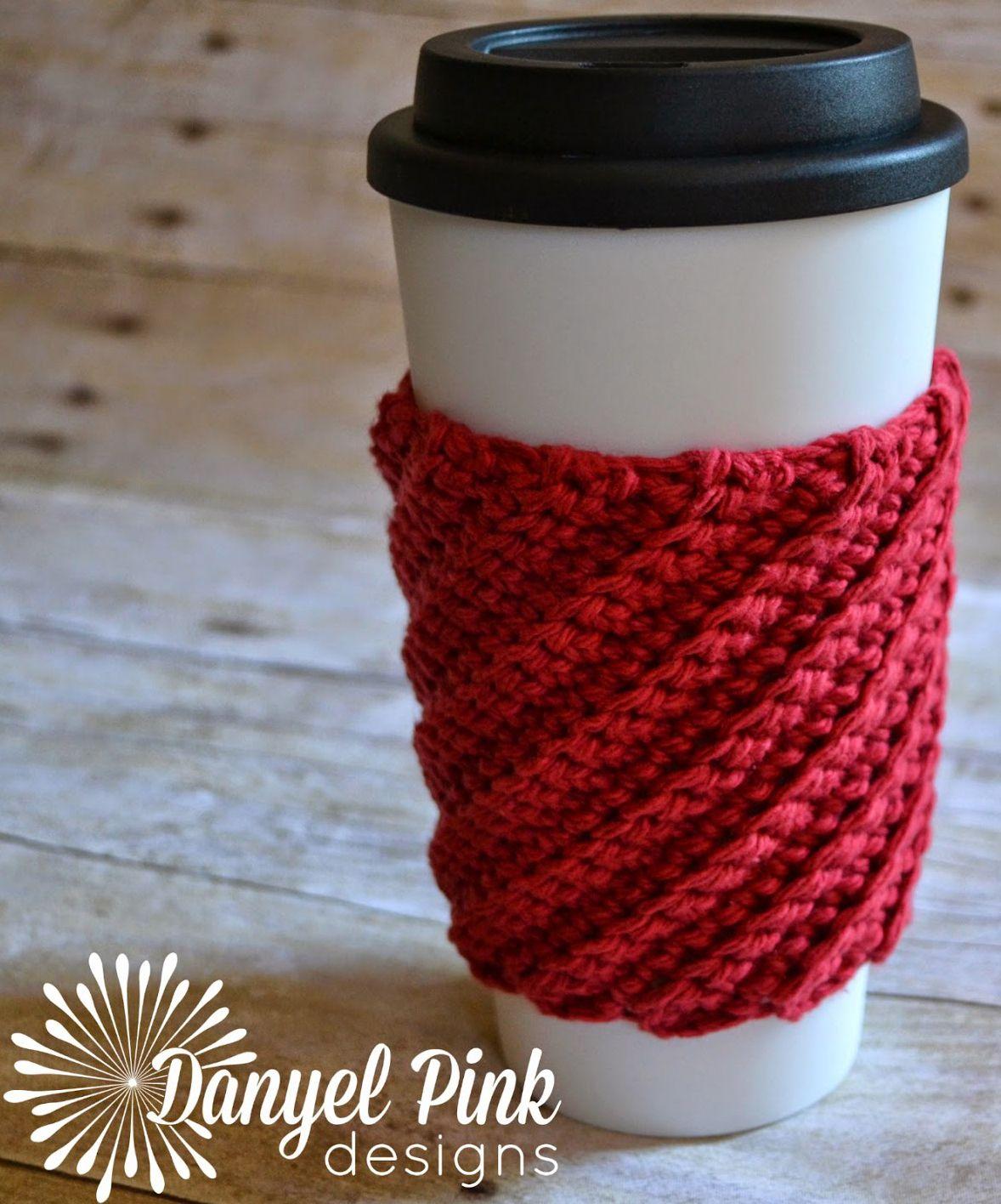 Christmas Crochet Coffee Cozy Pattern Round Up