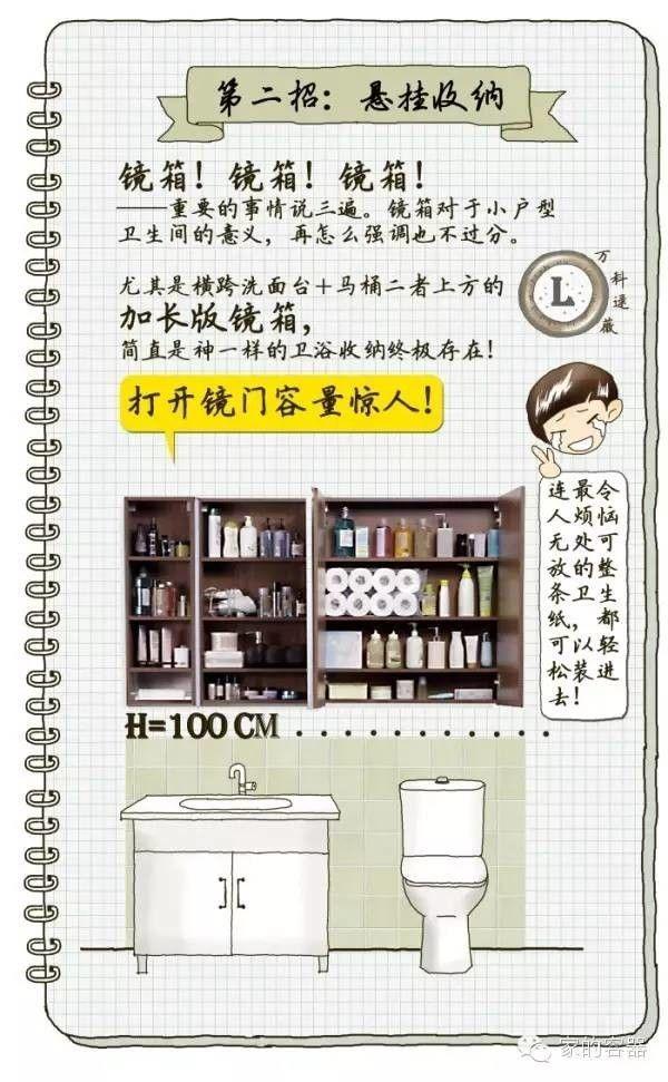 浴室收納 加長版鏡箱