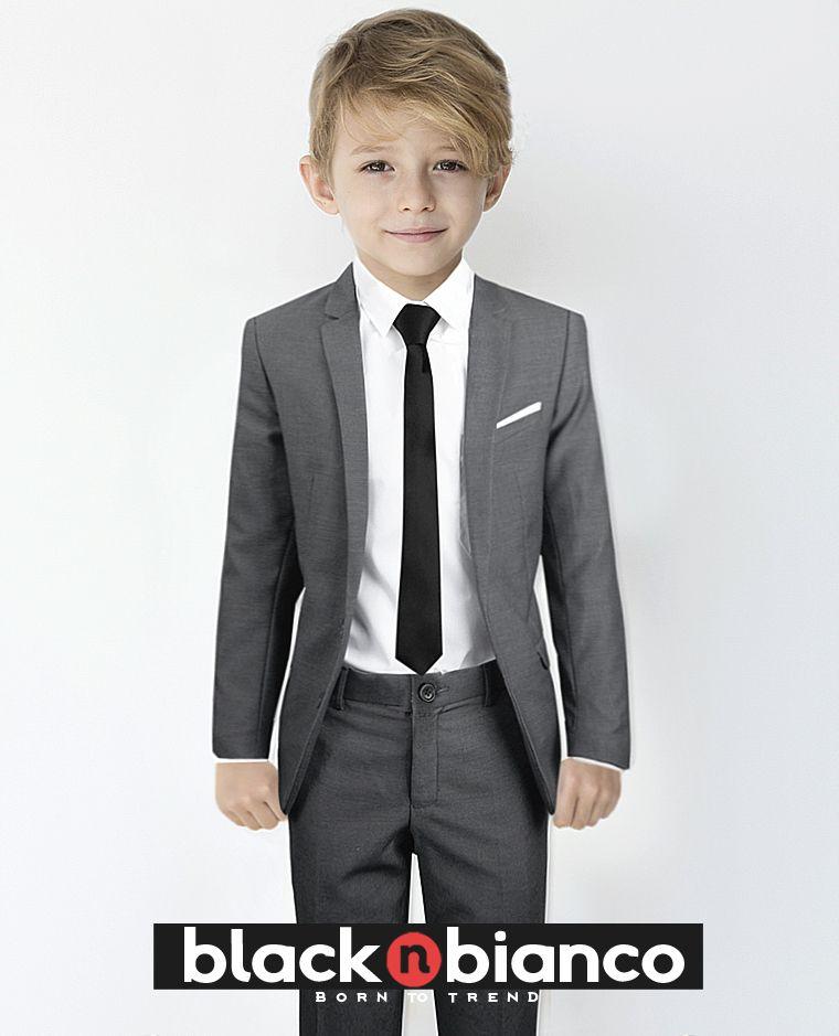 46ffb4c8d Signature Boys  Slim Fit Suit in Dark Grey