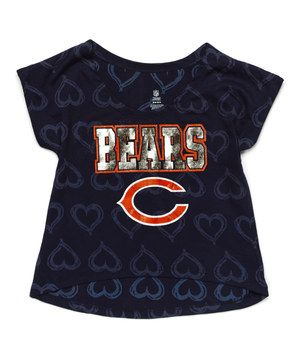 This Outerstuff Chicago Bears Heart Hi-Low Tee - Girls by Outerstuff is perfect! #zulilyfinds