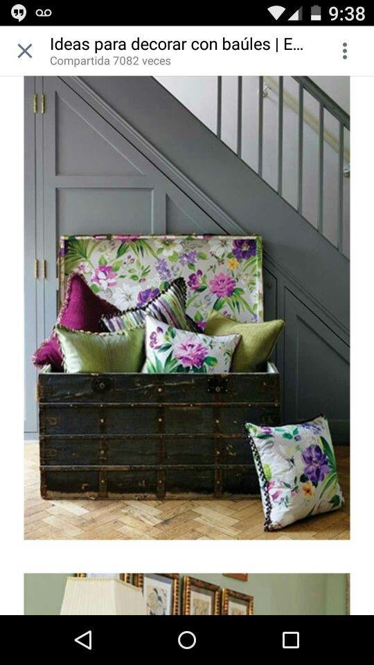 Baules decorados dormitorios y ba les pinterest ba l decoraci n de interiores y interiores - Baules para dormitorios ...